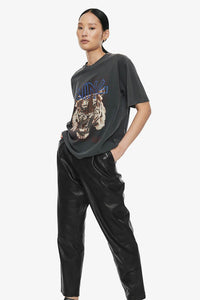 Anine Bing Tiger Tee Black