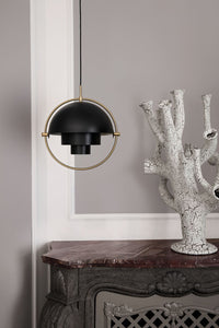 Gubi Multi-lite Pendant Brass / Charcoal Black