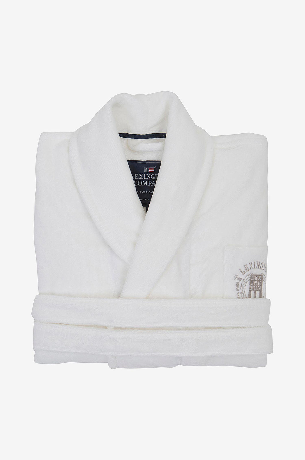 Lexington Hotel Velour Robe White