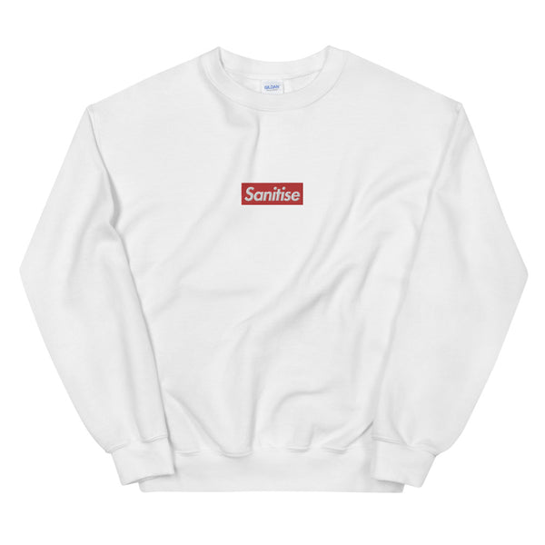 Sanitise Box Logo Embroidered Unisex Crewneck