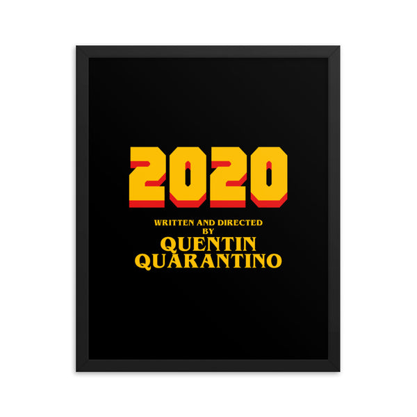 Quentin Quarantino Framed Poster