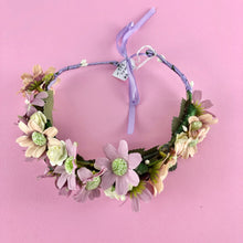 Load image into Gallery viewer, Pink and purple wreath head piece