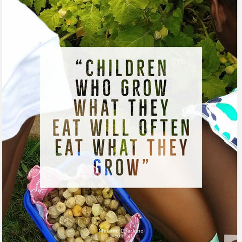 Children eat what they grow