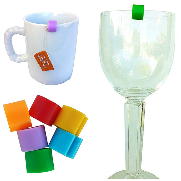 Cup Markers by CUPmarker for Drinking Cups, Mugs and Glasses (Set of 6)