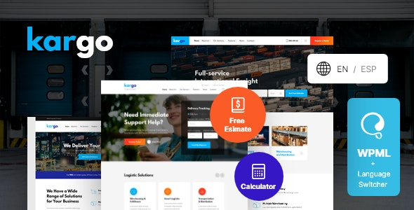 Powerful Logistics & Transportation WordPress Theme 1.1.5 with Authentic Key
