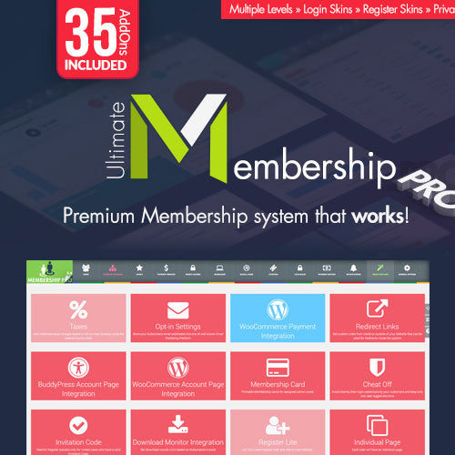Ultimate Membership Pro - WordPress Membership Plugin with Authentic Key