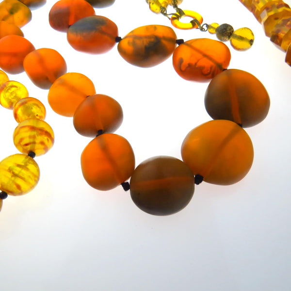 Tumbled Amber with matte finish