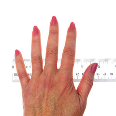 Our Estate Jewelry measuring guide - model's hand.