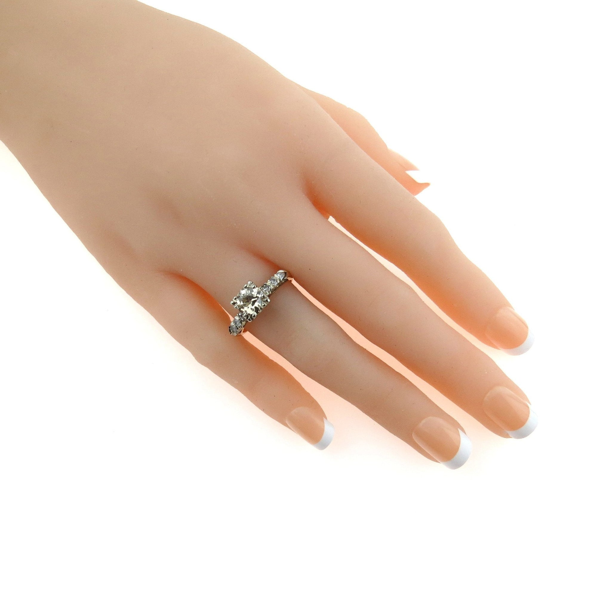 champagne diamond white ring gold halo in tw
