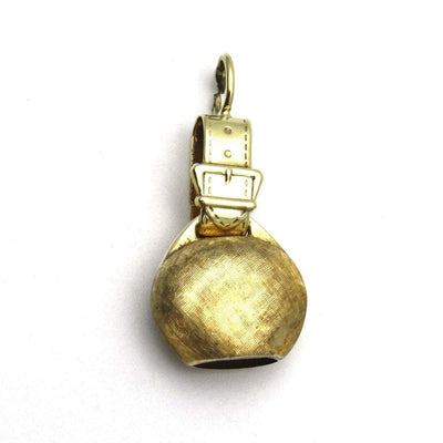 14k Gold Bell Charm with Buckle Vintage, 1930s to 1980s