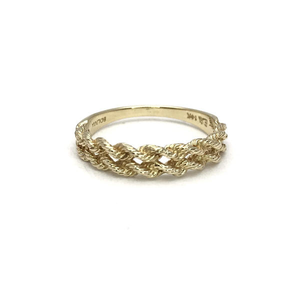 e7e87a725 14k Gold Double Rope Band Ring