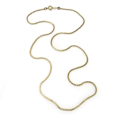 14k Gold S Link Chain Necklace Vintage, 1930s to 1980s