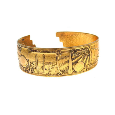 1939 New York World's Fair Cuff Bracelet Souvenir Vintage, 1930s to 1980s