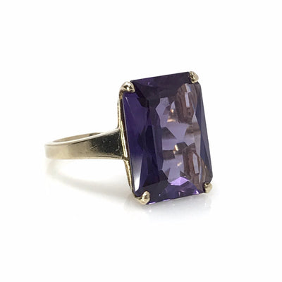 Amethyst statement ring Art Deco, 1920s to 1930s