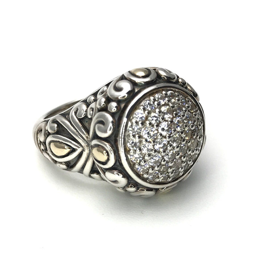 Angela by John Hardy Statement Ring Sterling & 14k Gold