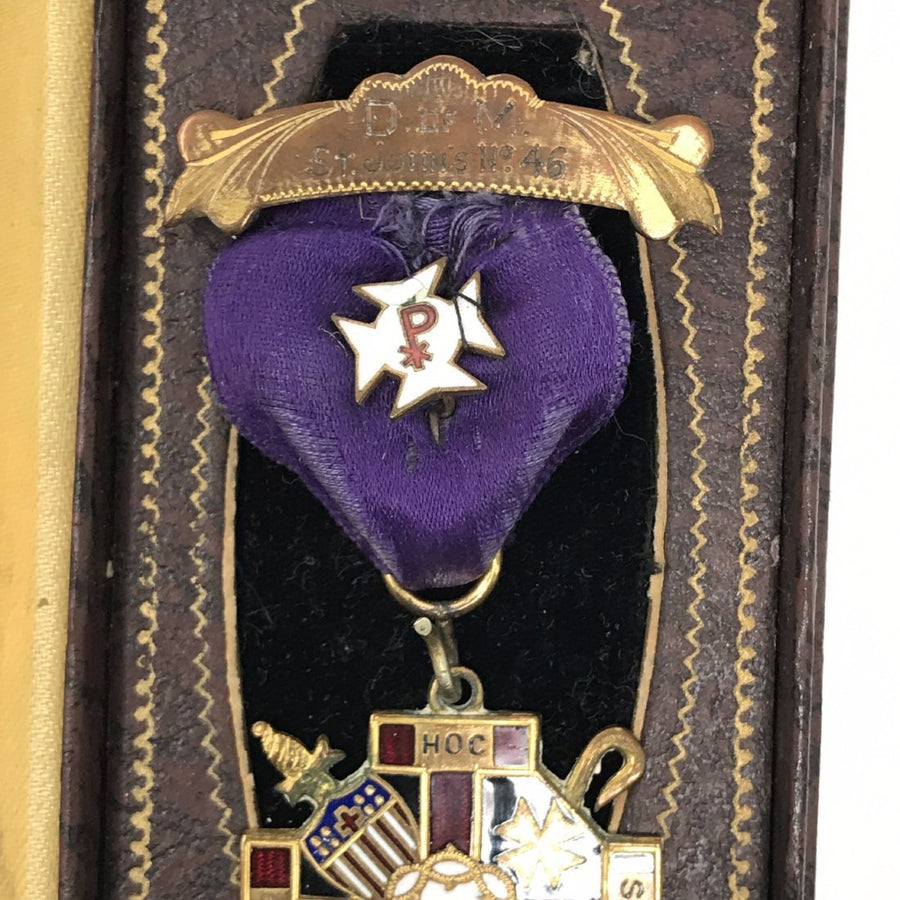 Antique Medal in Original Box Victorian, 1830s to 1900s
