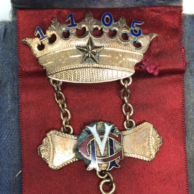 Antique Medal Star and Crown Victorian, 1830s to 1900s