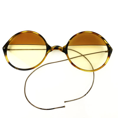 Antique Sunglasses with Split Color Lenses Victorian, 1830s to 1900s