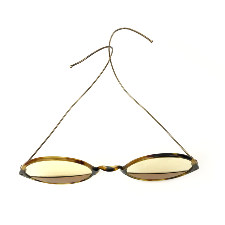 Antique Sunglasses with Split Color Lenses