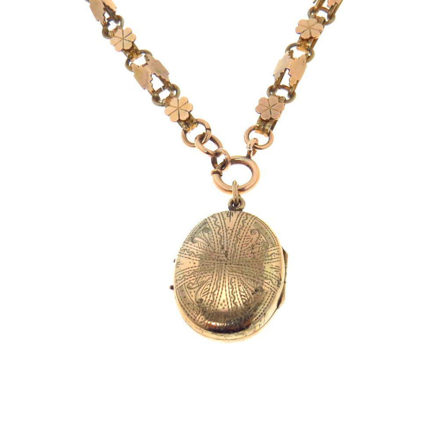 Antique Victorian Hair Locket Necklace Victorian, 1830s to 1900s