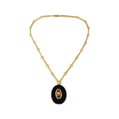 mahes nights and collection product boutique black heart arabian gold necklace
