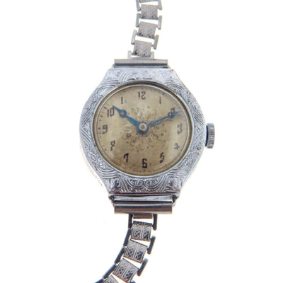 Art Deco Era Ladies Enicar Watch Chrome Art Deco, 1920s to 1930s