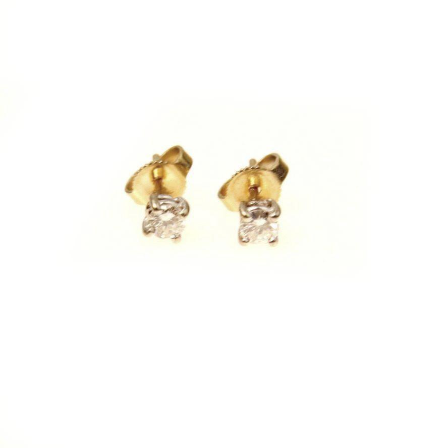 0.25 Ct Diamond Solitaire Stud Earrings