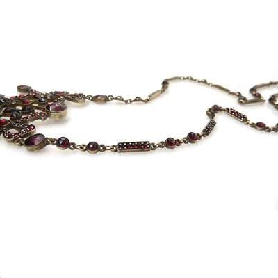 Bohemian Garnet Necklace Victorian, 1830s to 1900s