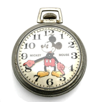Bradley Vintage Mickey Mouse Pocket Watch Vintage, 1930s to 1980s