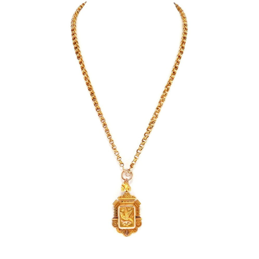 Solid Gold Victorian Locket Necklace