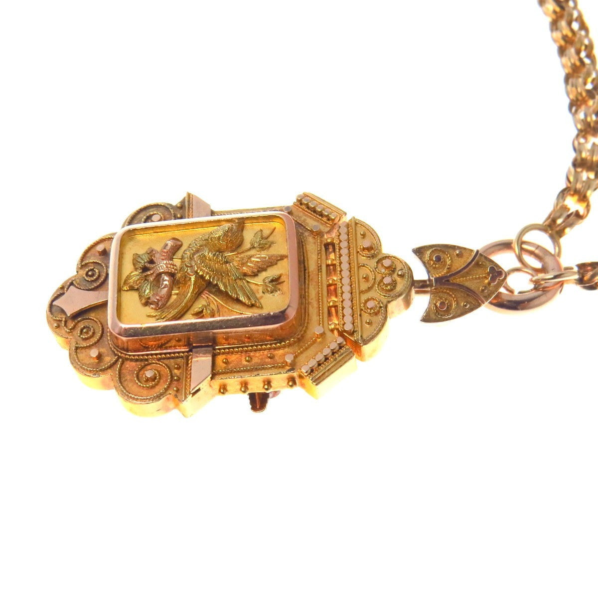 solid etched jewelry estate chain lockets girls locket filled necklace cond mint gold vintage or jewellery oval womens yellow product