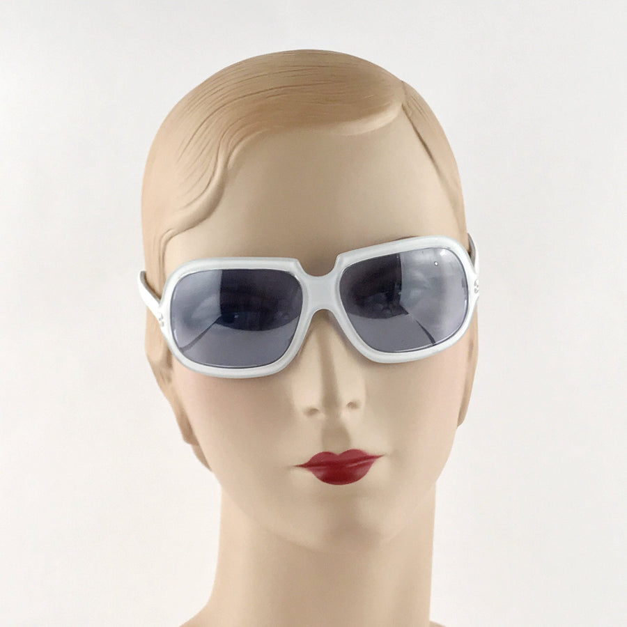 Christian Ross White Sunglasses Contemporary, Post 1990