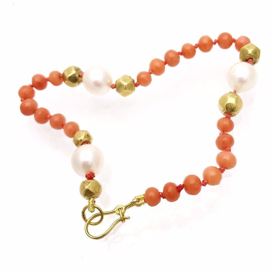 Coral Pearl and Gold Bracelet PreAdored™