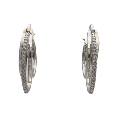 Diamond Micro Pave Triple Hoop Earrings Vintage, 1930s to 1980s
