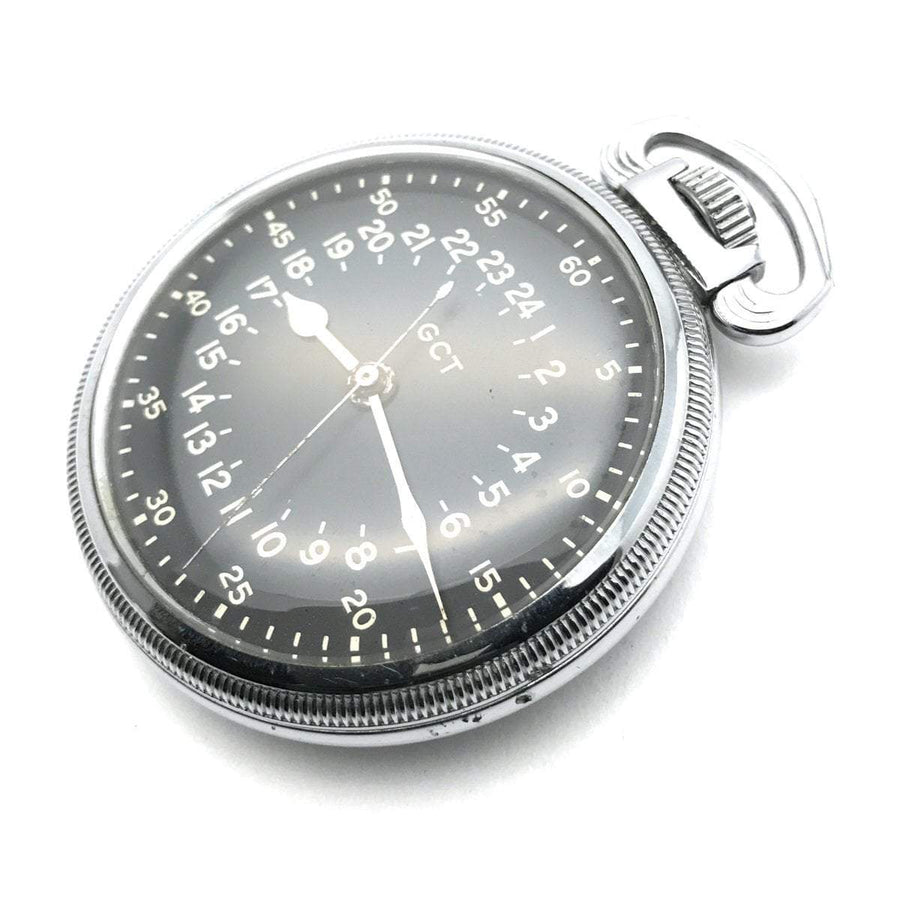 Elgin GCT Master Navigation Military Pocket Watch AN-5740 Retro, 1940s