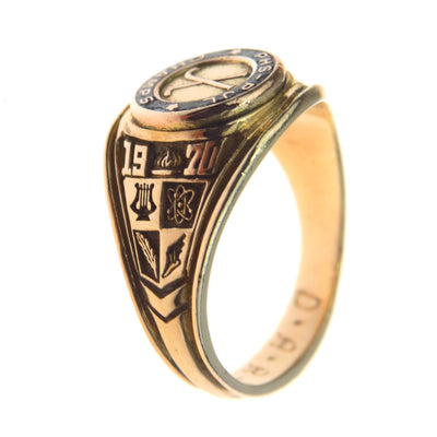 Hockey Champs Signet Ring Vintage, 1930s to 1980s