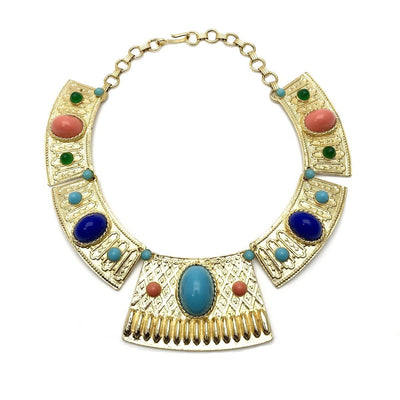 Juliana Egyptian Revival Necklace Vintage, 1930s to 1980s