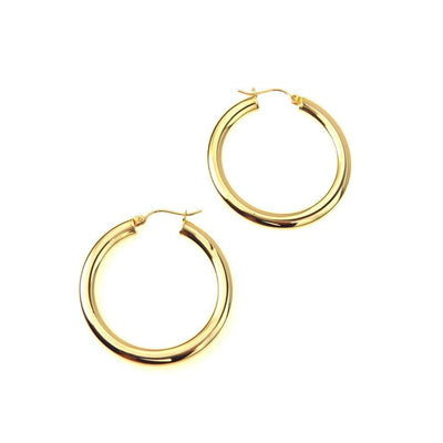 Large 10k Gold Hoop Earrings