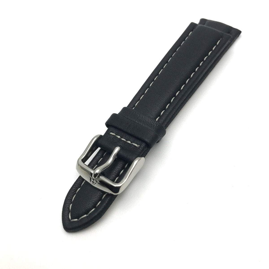 Leather Watch Band 20MM Black Contemporary, Post 1990