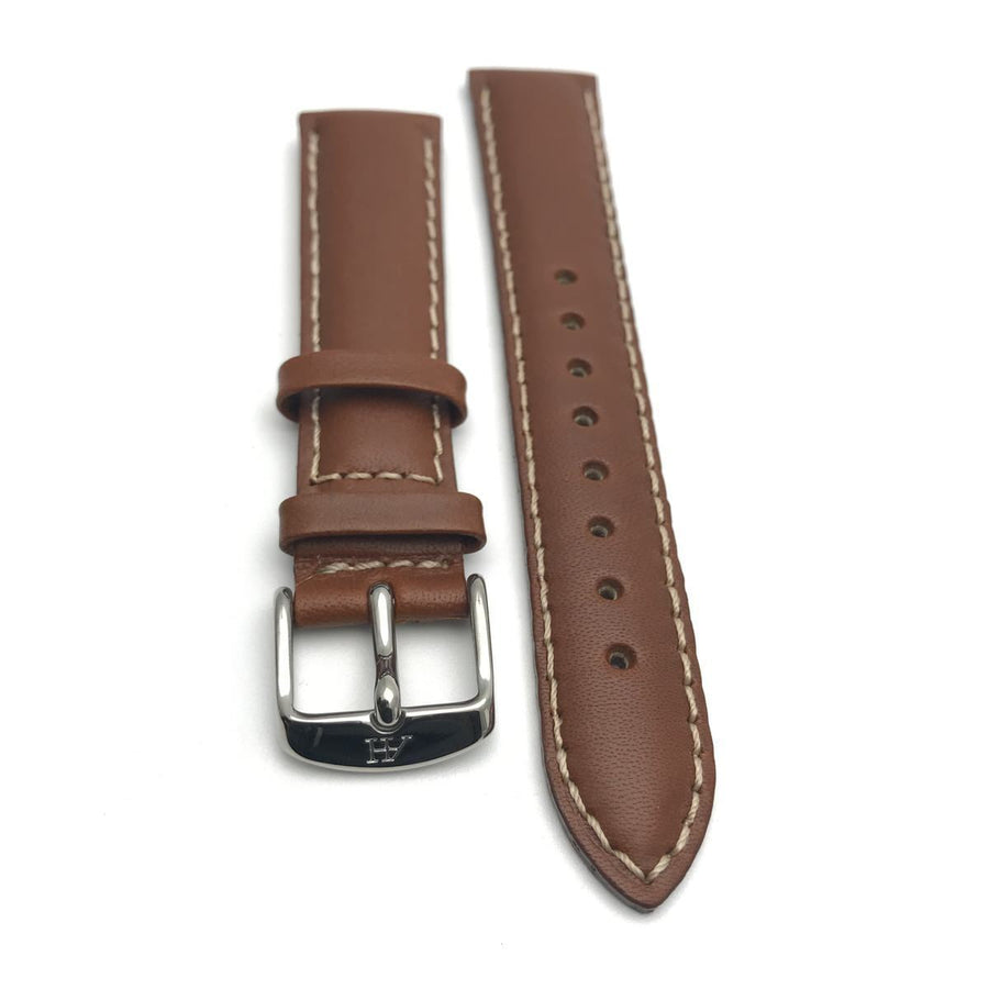 Leather Watch Band 20MM Saddle Contemporary, Post 1990