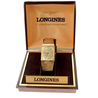 Longines Men's Diamond Watch with Original Box Vintage, 1930s to 1980s