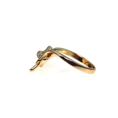 Moissanite 14k Gold Butterfly Ring Contemporary, Post 1990