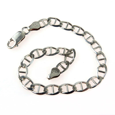 Nautical Links Sterling Bracelet Vintage, 1930s to 1980s
