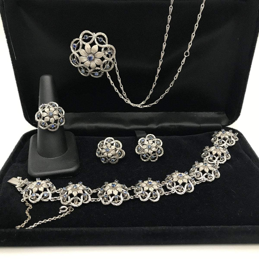 Platinum over Sterling Sapphire Grand Parure Set PreAdored™
