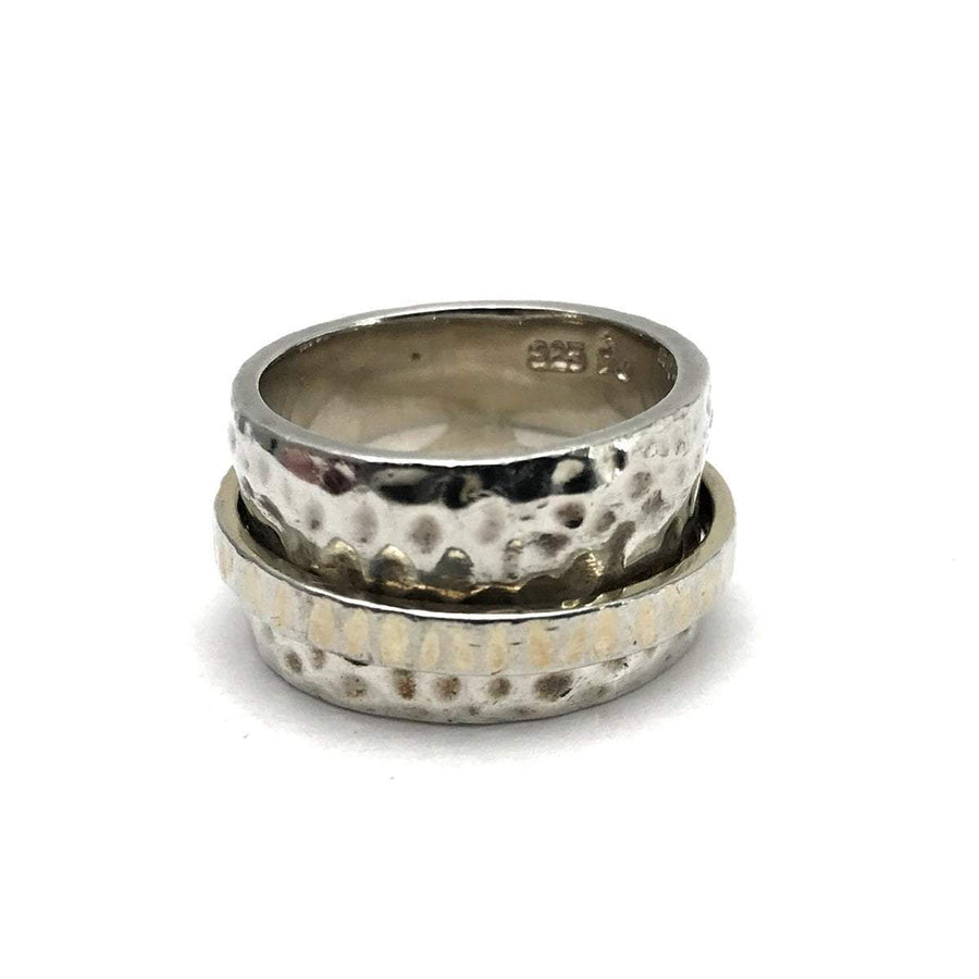Silpada Hammered Sterling Spinner Band Ring Vintage, 1930s to 1980s