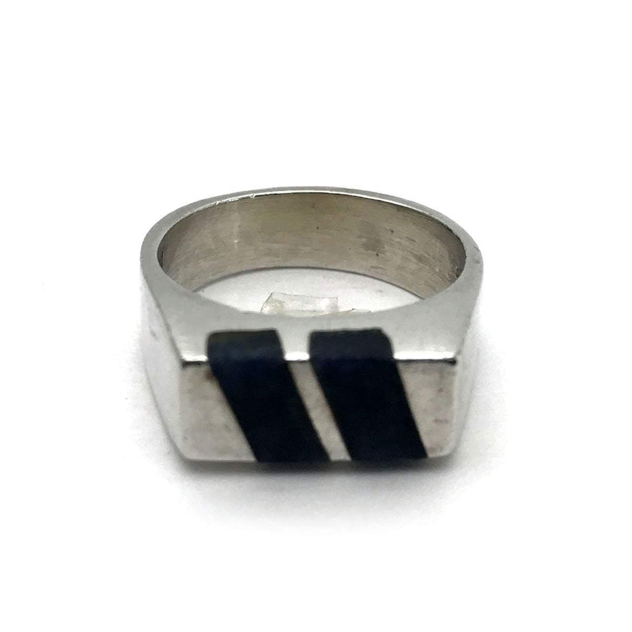 Sodalite Sterling Silver Modern Signet Ring PreAdored™