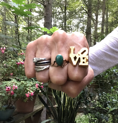 The Famous Love Ring by Robert Indiana Vintage, 1930s to 1980s