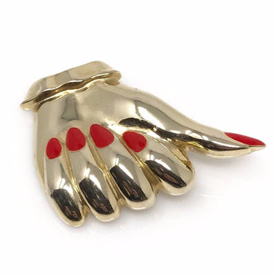 "Thumb Up ""Like"" or OK Hand Brooch Pin Vintage, 1930s to 1980s"