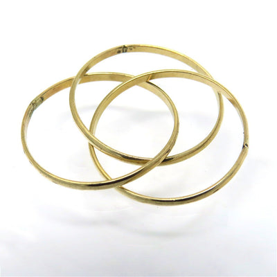 Triple Interlocked Band Ring Vintage, 1930s to 1980s