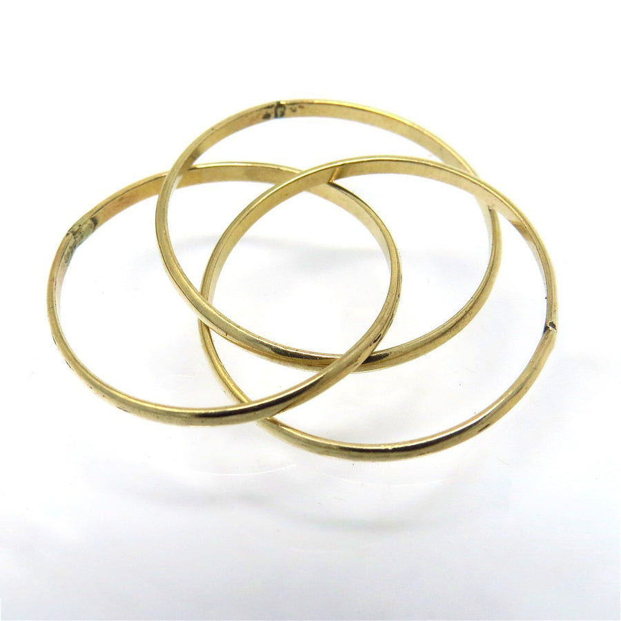 Triple Interlocked Band Ring